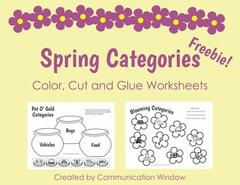 Spring Categories Freebie