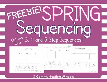 Free Spring Sequencing Worksheets