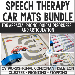 Car Mats Activities for Apraxia and Phonological Disorders
