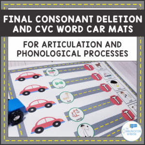 Final Consonant Deletion Car Mats