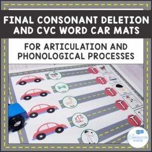 Final Consonant Deletion Car Mats