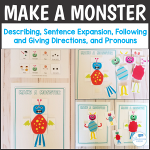 Make a Monster Speech Therapy Game for Pronouns
