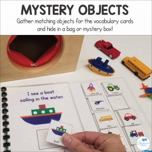 Vehicles Theme Interactive Book Speech Therapy Activity
