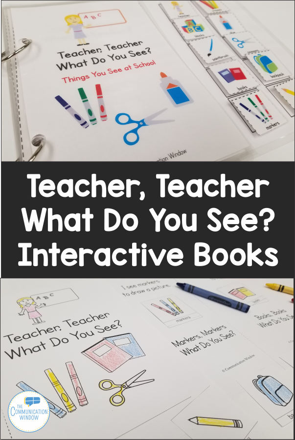 Back to School Theme Interactive Vocabulary Book for Speech Therapy