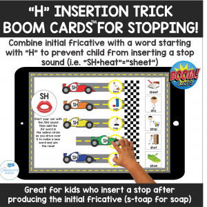 Stopping H Insertion Trick Boom CardsSpeech Therapy