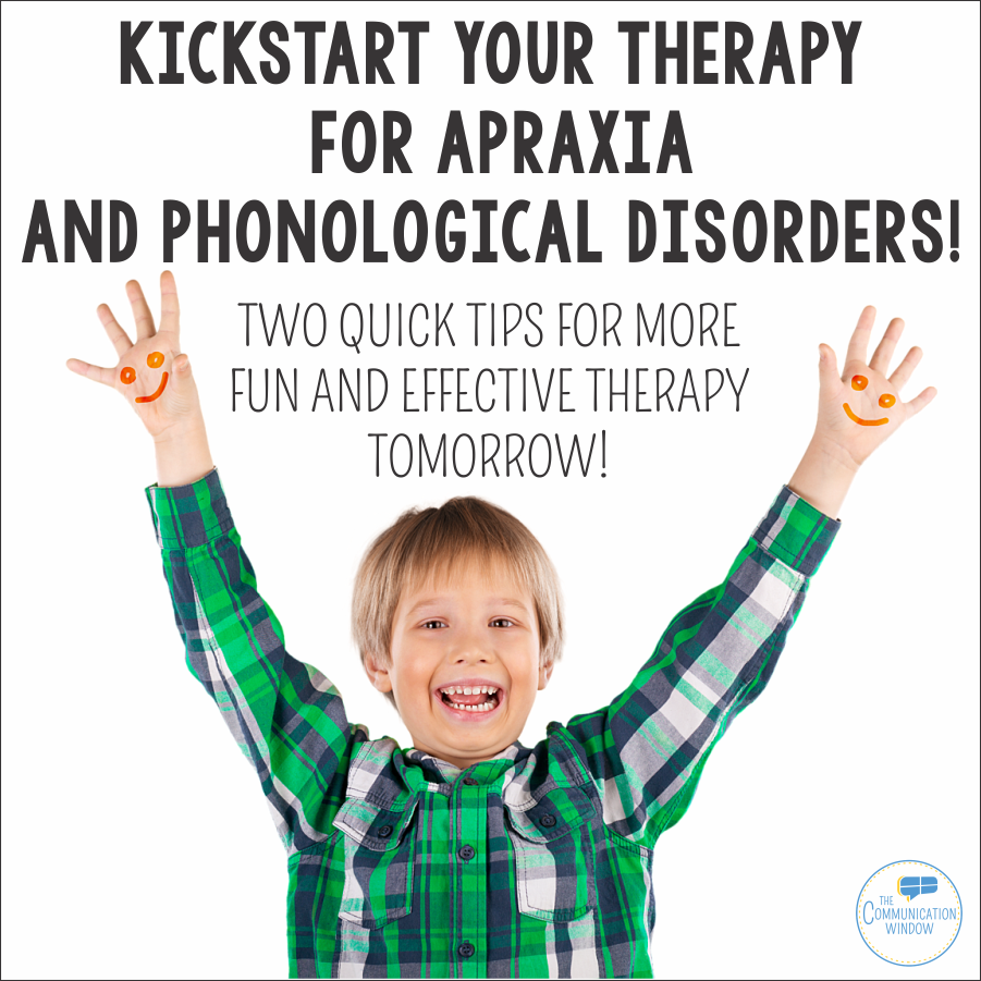 Any SLP working with preschool or young elementary students are bound to  have students with apraxia or phonological disorders on their caseload.