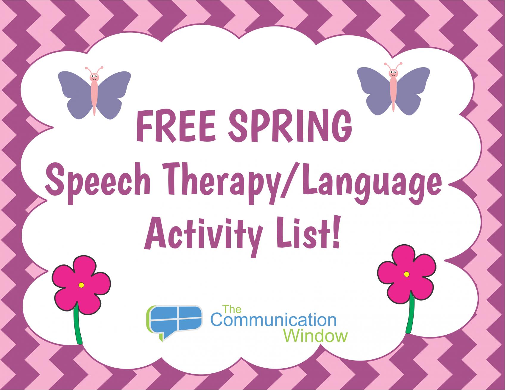 free spring theme speech and language activities communication window