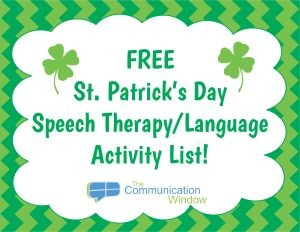 free st patrick s day speech and language activities list
